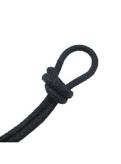 Kynda Light Fabric Cord Jute Raw Yarn - Braided | Black - ø 8mm