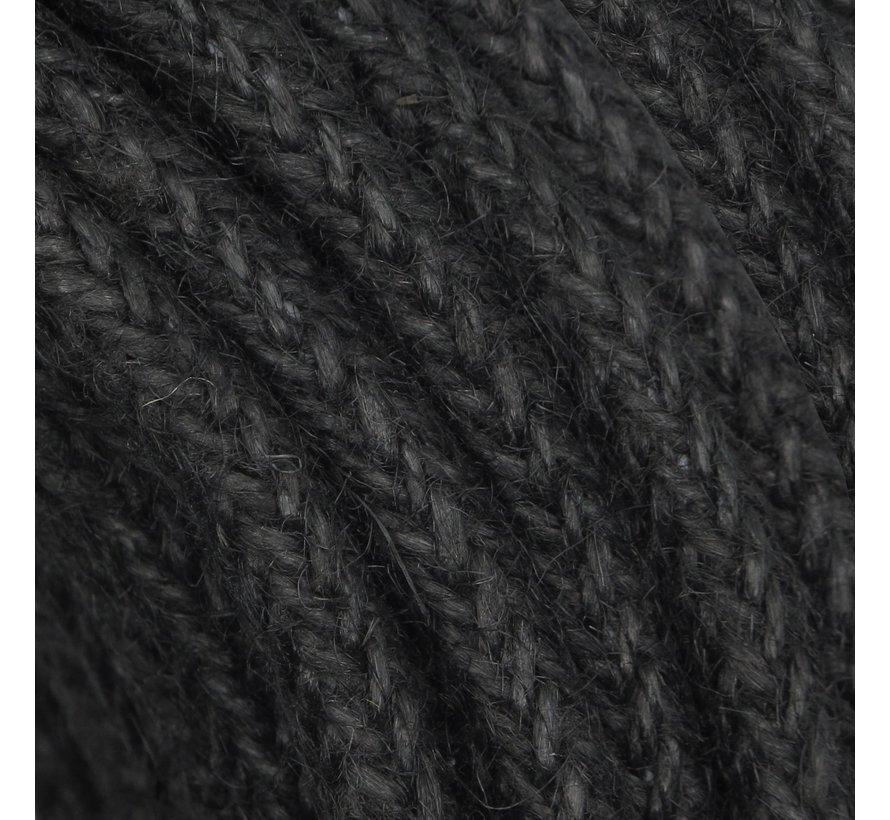Fabric Cord Jute Raw Yarn - Braided | Black - ø 8mm