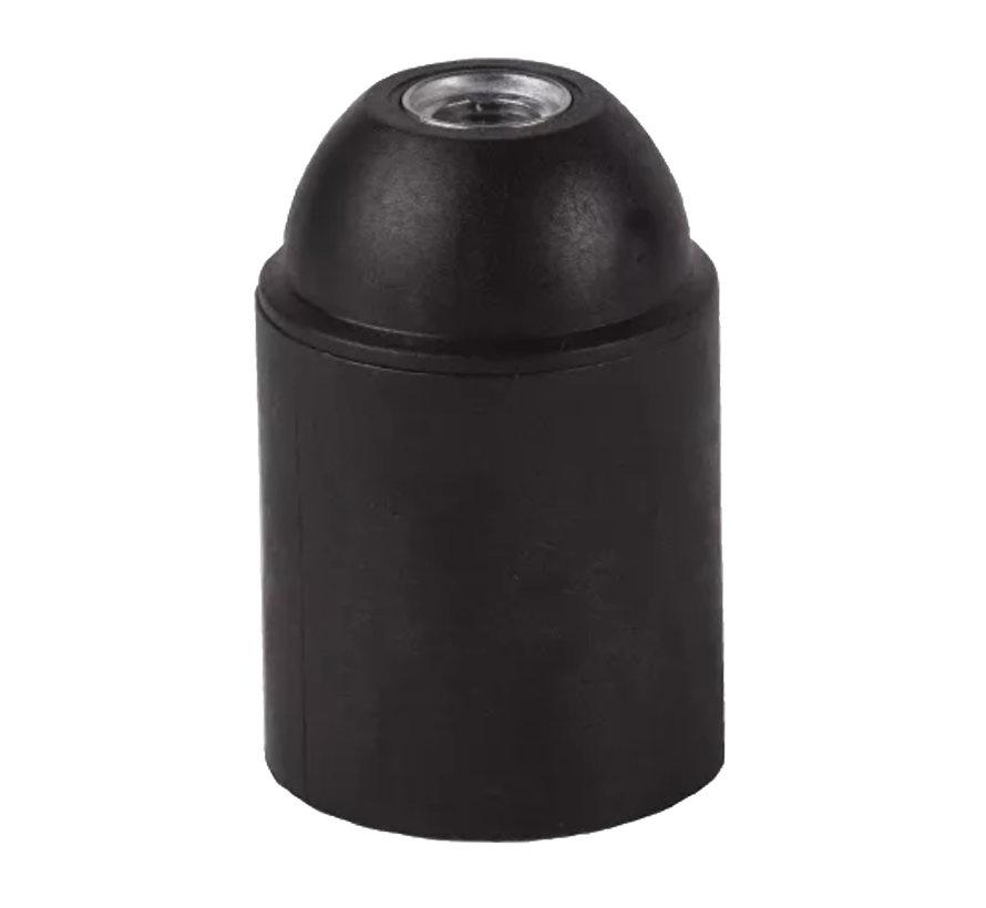 Fassung Thermoplastik (Kunststoff) Schwarz mit Glattmantel - E27
