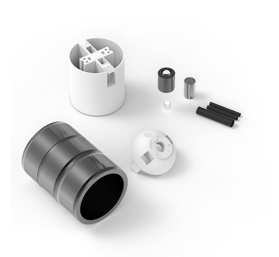 Calex fitting metaal  - 3-rings model Mat Zwart   E27