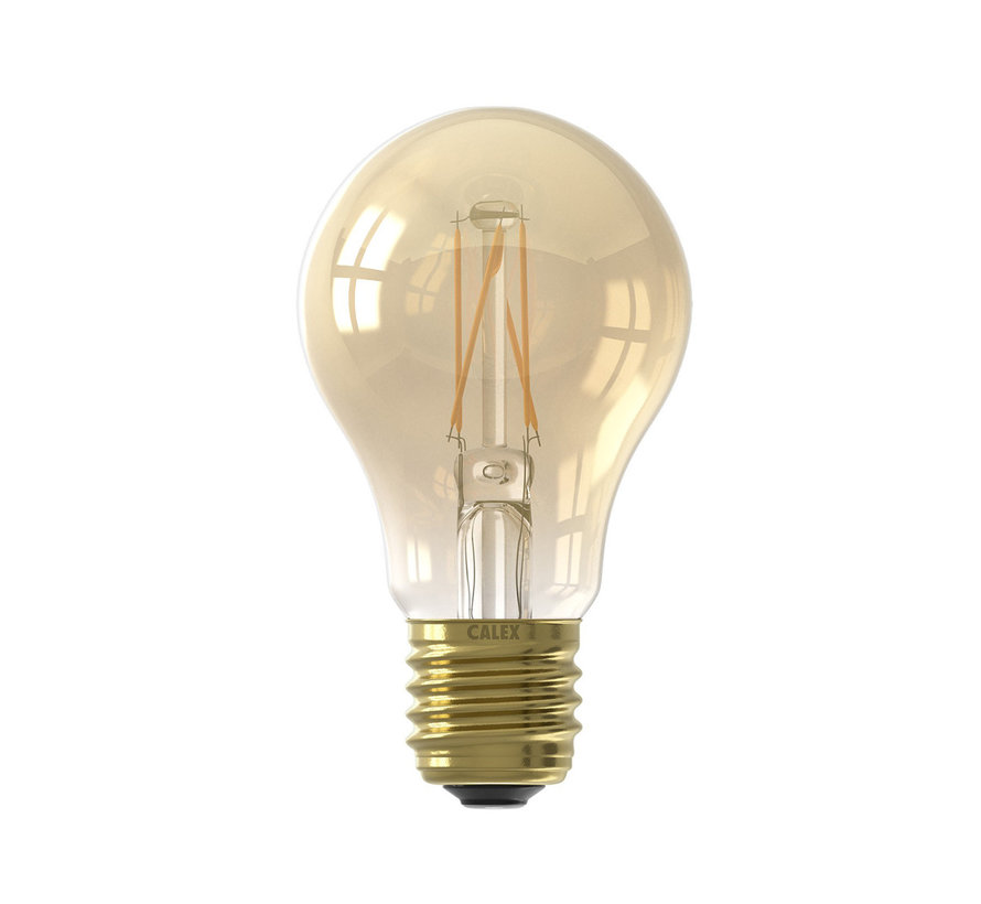 LED lamp goud A60 Peer E27 (CRI80) - 6,5W