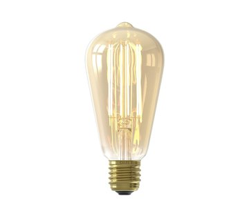 Calex Gold LED Bulb ST64 Squirrel Cage E27