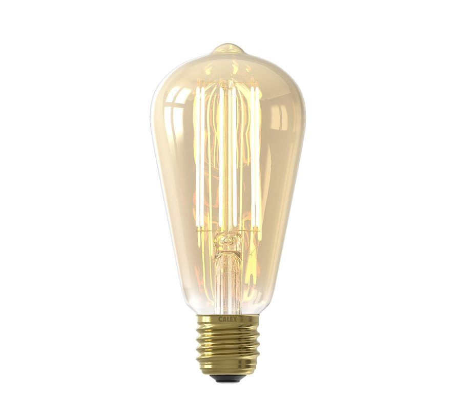 LED lamp goud ST64 Squirrel Cage E27