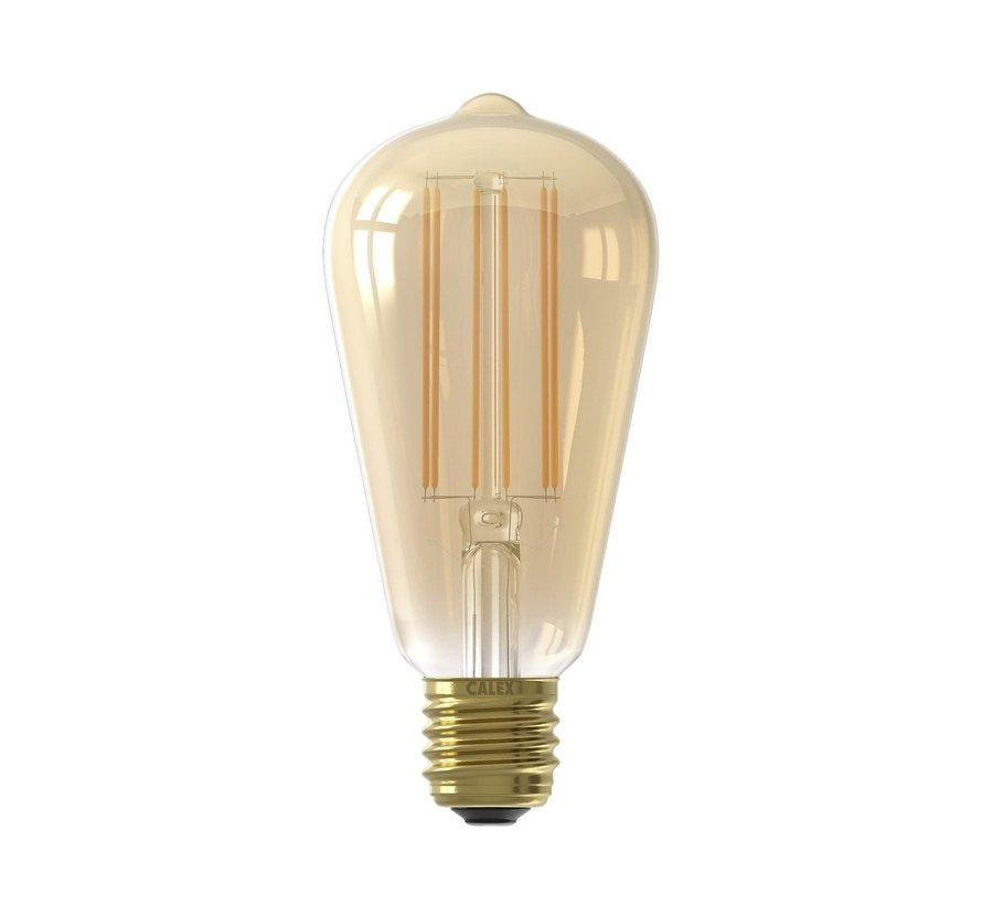 Gold LED Bulb ST64 Squirrel Cage E27