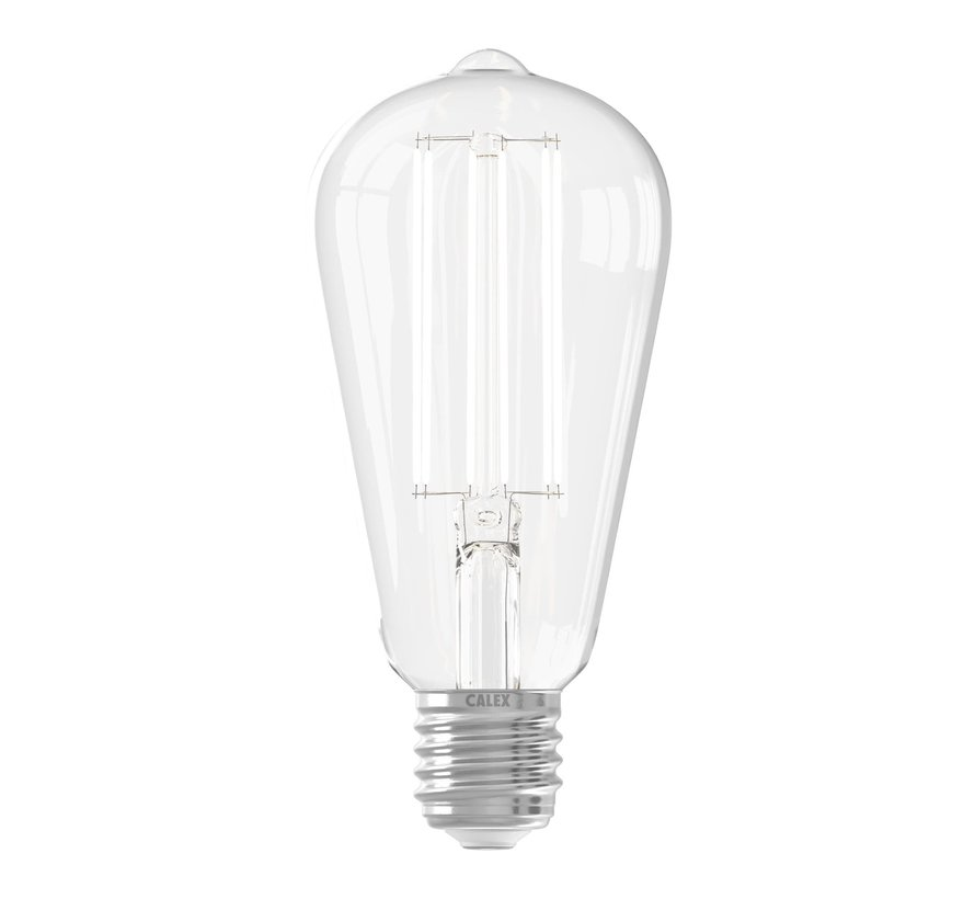 Clear LED Bulb ST64 Squirrel Cage E27
