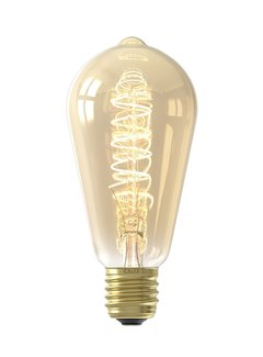 Calex LED lamp Curved goud ST64 Squirrel Cage E27