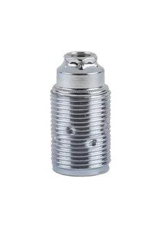 Kynda Light E14 fitting metaal met buitendraad (geaard)   Chroom