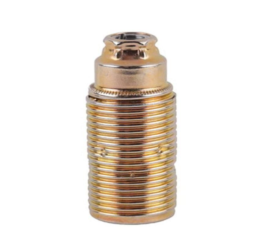 E14 Fassung Metall (geerdet) mit Außengewinde | Messing