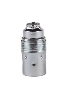 Kynda Light Metal Lamp Holder External Threaded | Chrome