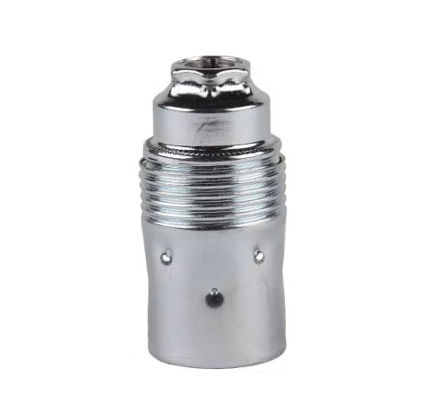 Metal Lamp Holder External Threaded | Chrome
