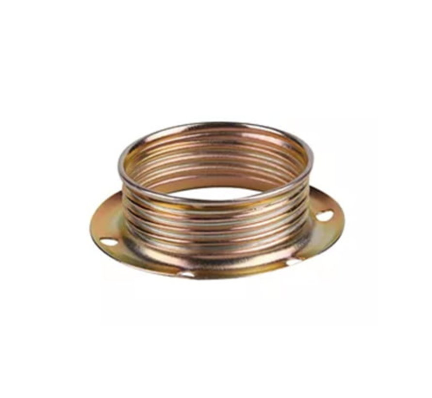 Metal ring E14 for lamp holder with external thread - ⌀40mm | Brass