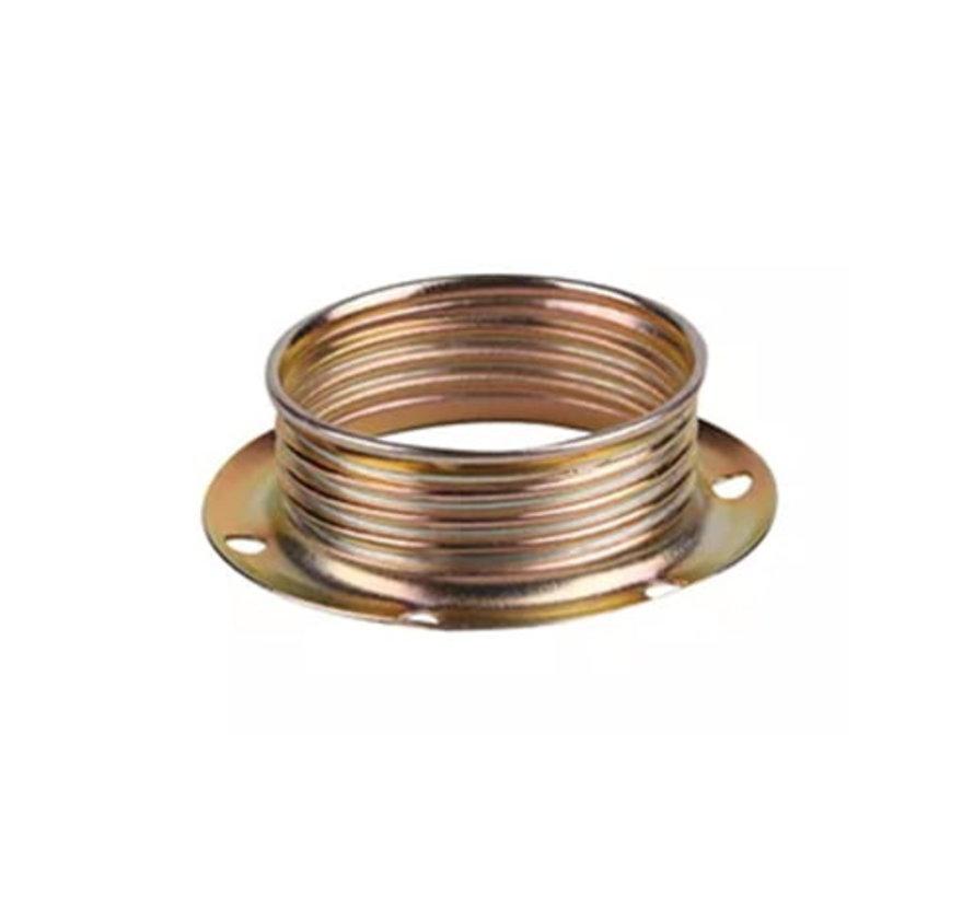 Metalen schroefring voor E14 fitting met buitendraad - ⌀40mm | Messing