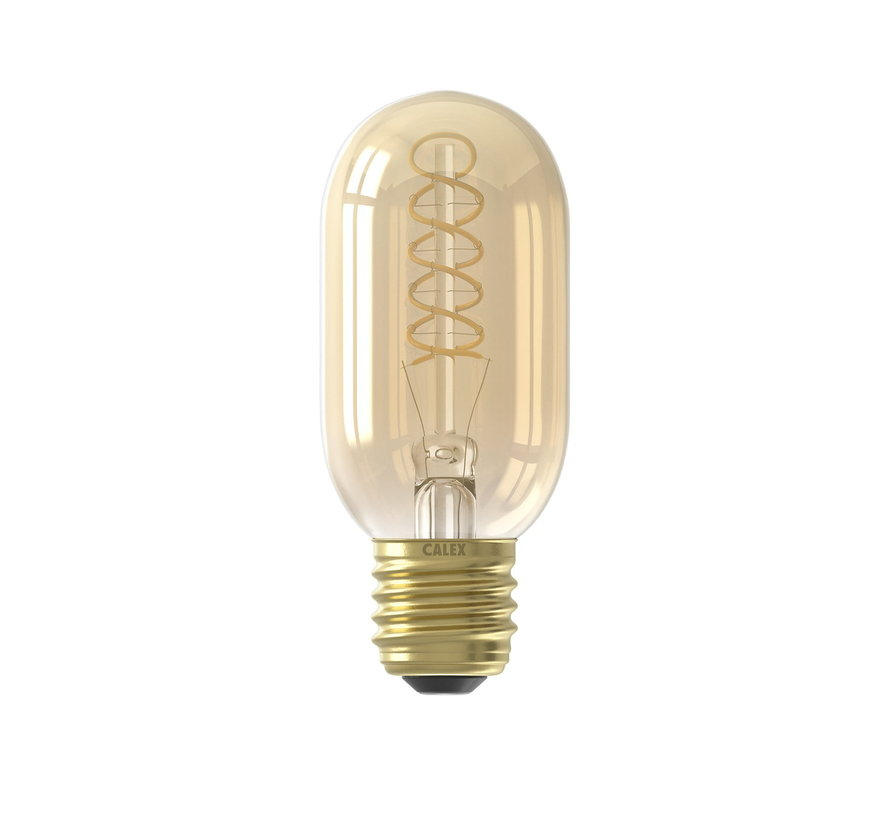 LED lamp Flex Filament - Buislamp T45 - 4W E27 - 2100K - Dimbaar | Goud