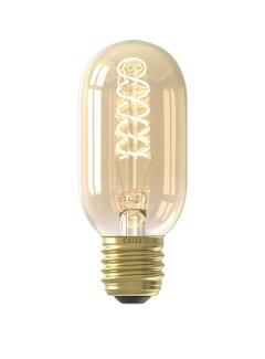Calex LED-Lampe - Flex Filament - Röhrenlampe T45 - 4W E27 | Gold