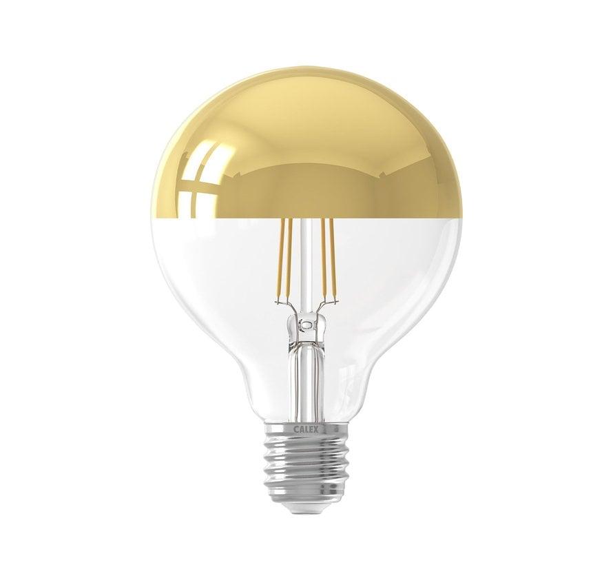 LED lamp Filament - Globe G95 - 4W E27 - 2300K - Dimbaar | Kopspiegel Goud