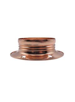 Kynda Light Metal ring for E27 lamp holder with external thread - ⌀60mm   Copper