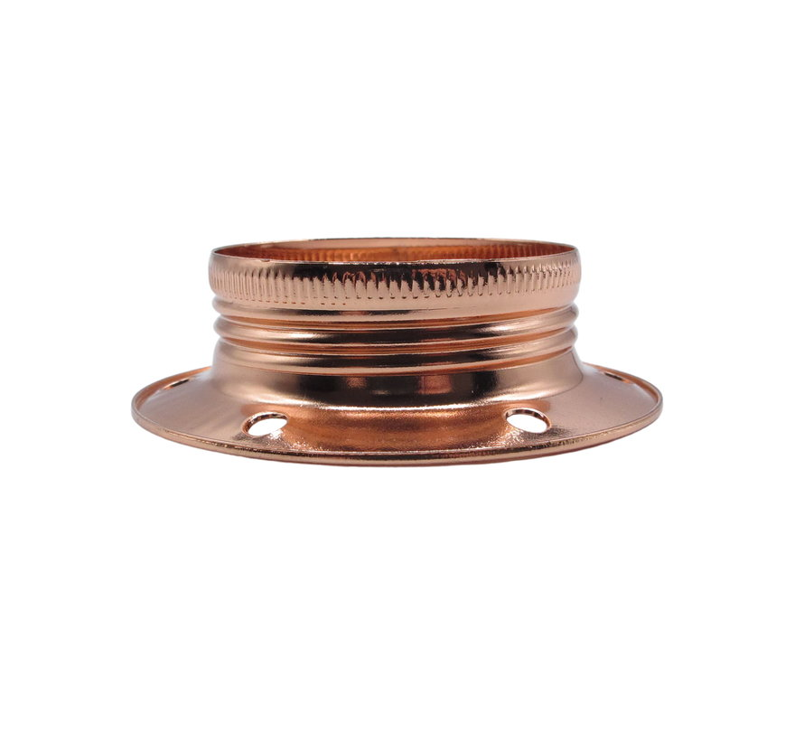 Metal ring for E27 lamp holder with external thread - ⌀60mm | Copper