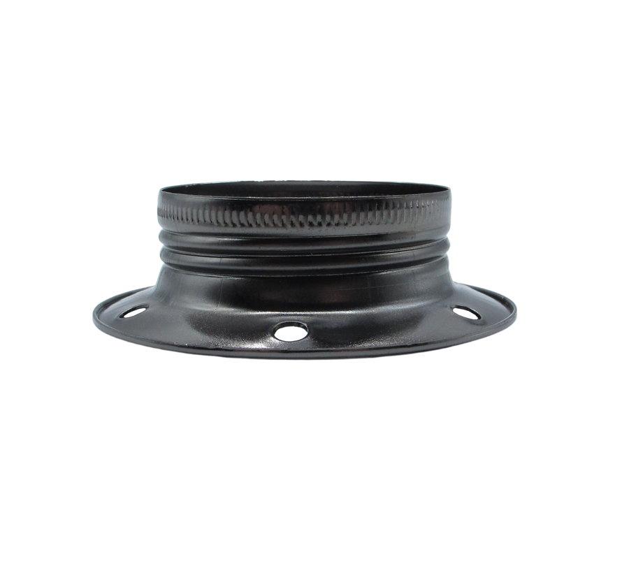 Metalen schroefring voor E27 fitting met buitendraad - ⌀60mm | Donkergrijs