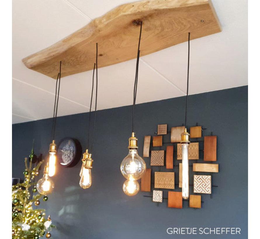 Metal Lamp Holder 'Bernt' golden bronze E27