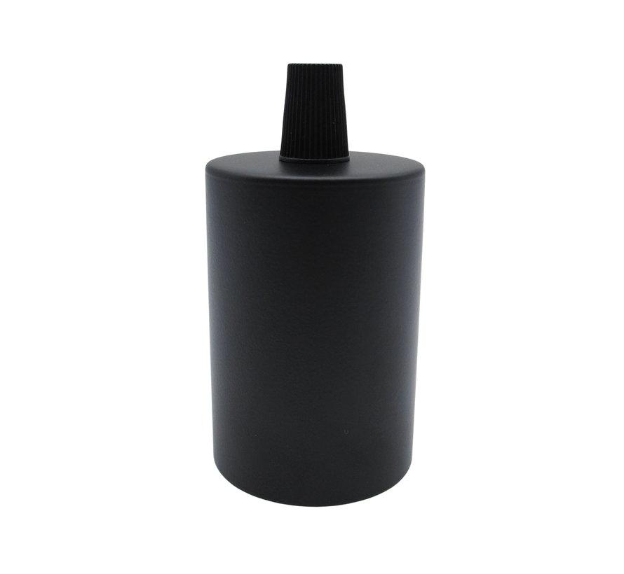 Fitting 'Sigvor' metaal Zwart E27