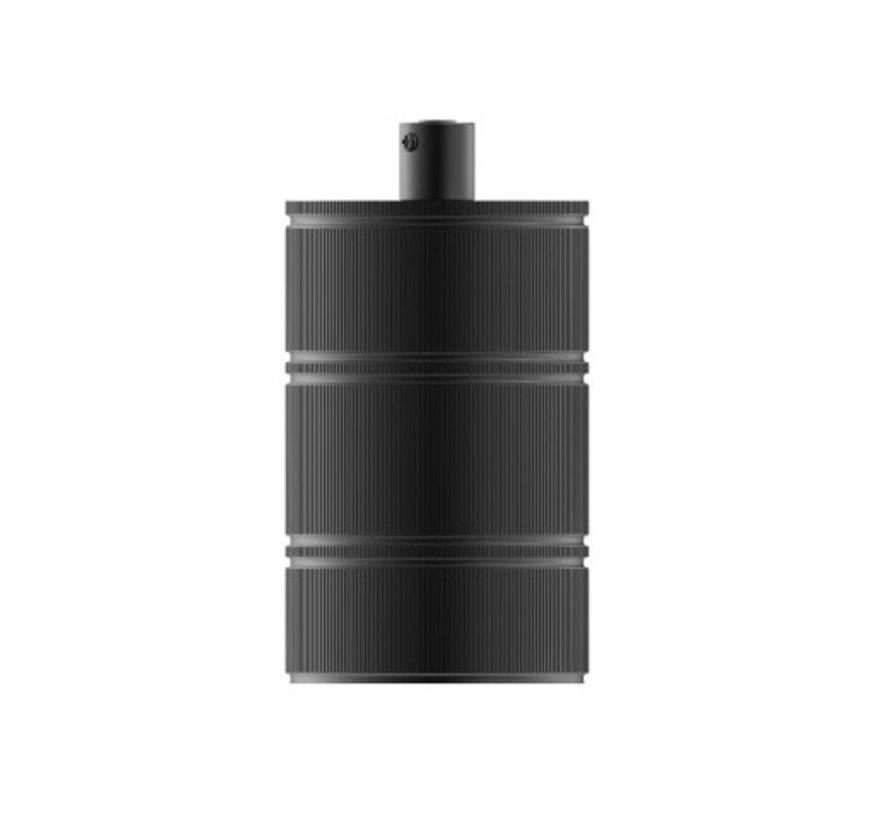 Calex XXL fitting metaal  - 3-rings model E27 | Mat Zwart