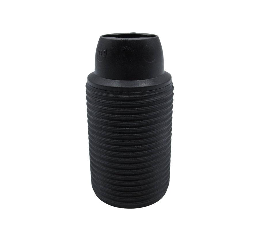 Plastic Lamp Holder External Threaded - Black - E14)