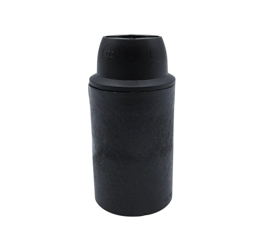 Plastic Lamp Holder - Black (E14)