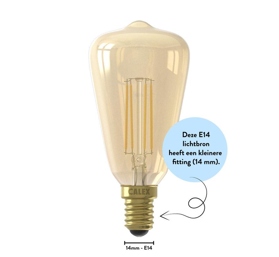 Gold LED light bulb - Full Glass Rustik ST48 - 4W E14 - 2100K - Dimmable