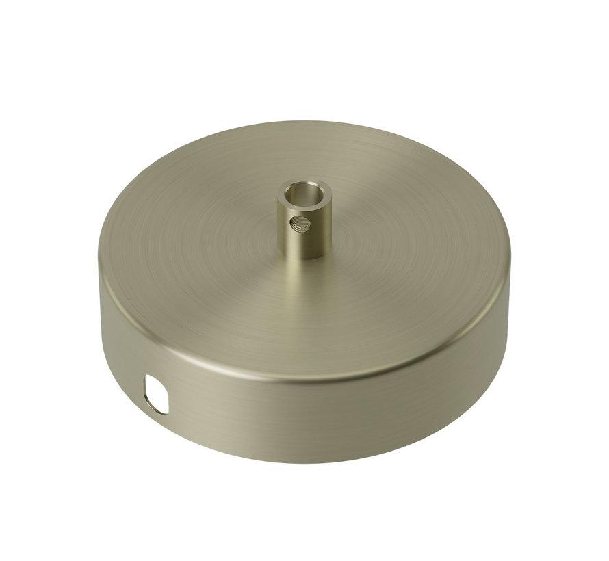 Calex Plafondkap geschikt voor 1 snoer (1 gats) | Brons (mat)