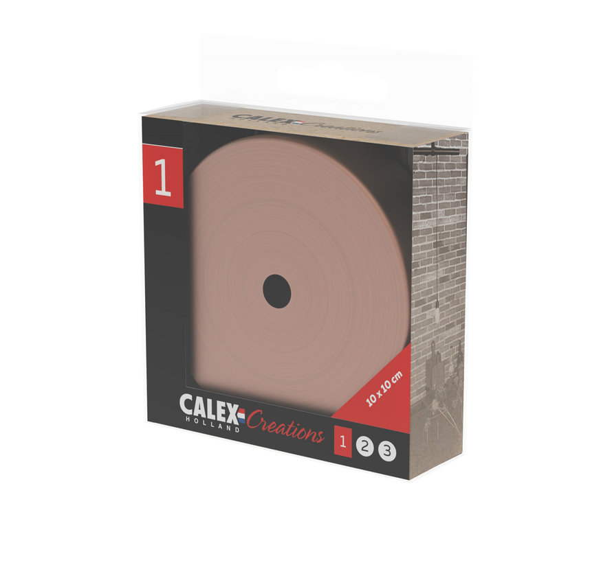Calex Metal Ceiling Rose - 1 cord | Copper (matt)
