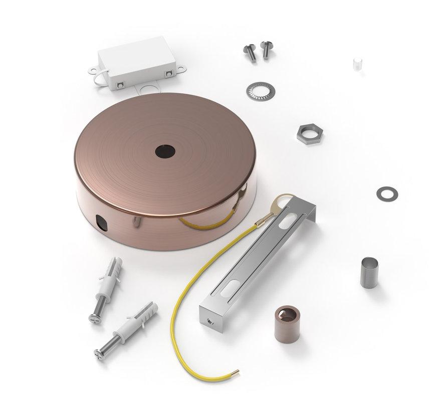 Calex Plafondkap geschikt voor 1 snoer (1 gats) | Koper (mat)