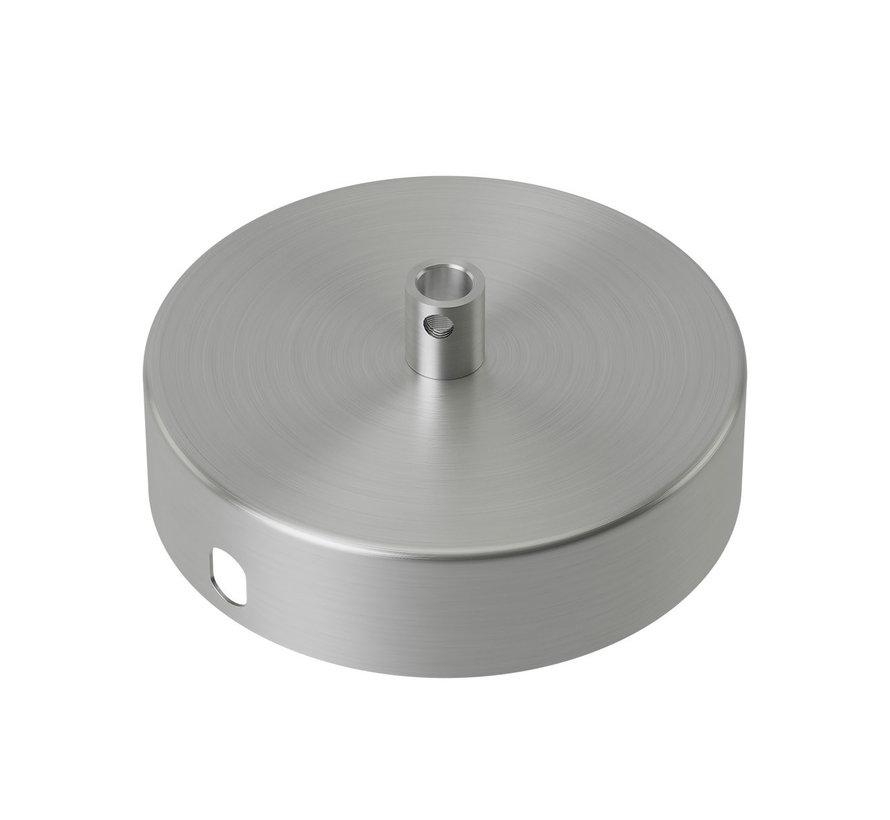 Calex Plafondkap geschikt voor 1 snoer (1 gats) | Nikkel / Chroom (mat)