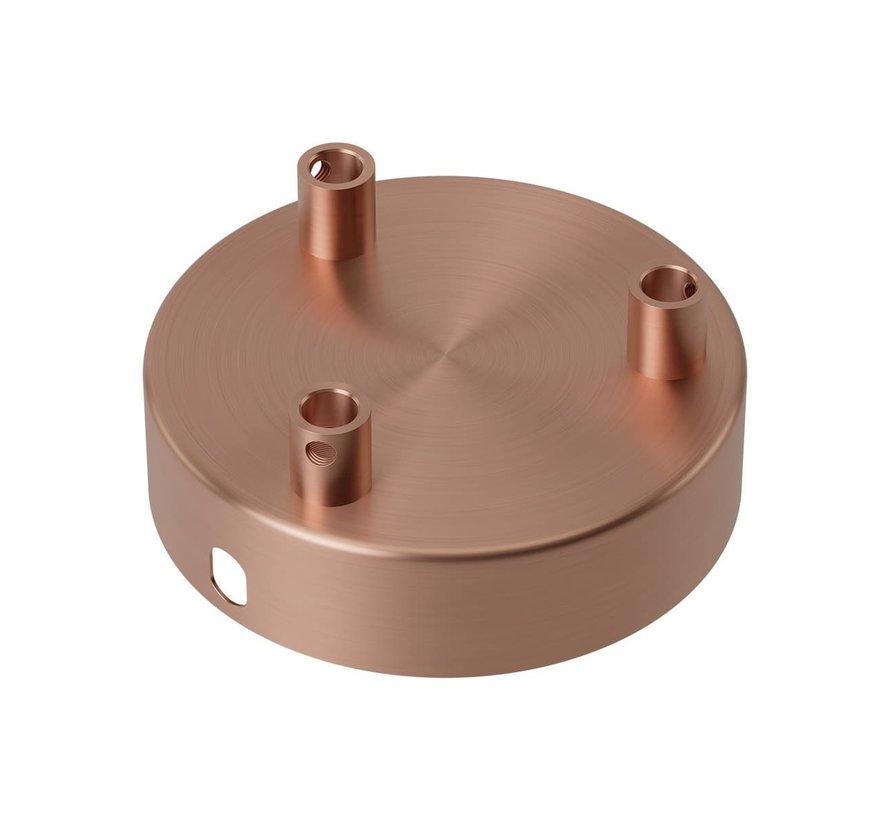 Calex Deckenbaldachin Metall - 3 Loch   Kupfer (matt)