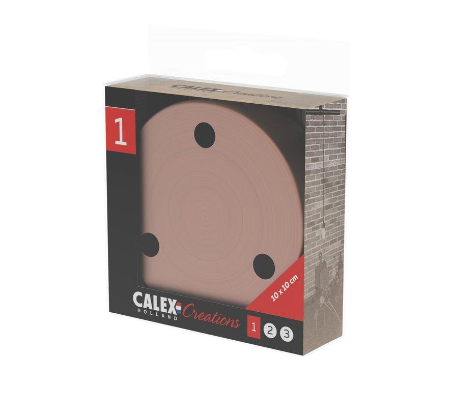 Calex Plafondkap geschikt voor 3 snoeren (3 gaats) | Koper (mat)