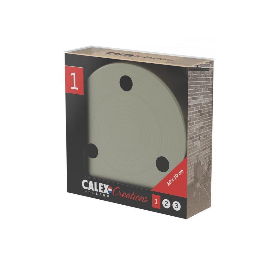 Calex Plafondkap geschikt voor 3 snoeren (3 gaats) | Brons (mat)