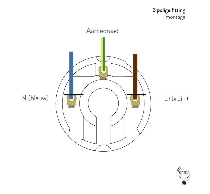 Fitting 'Olan' met schroefdraad - metaal Koper - E27