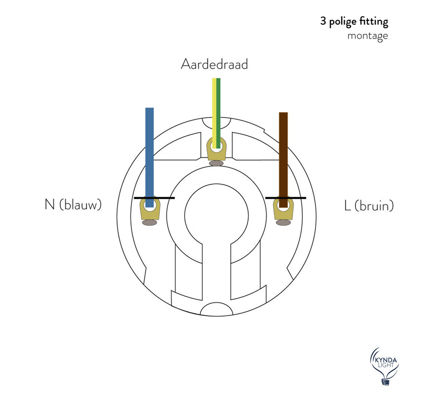 Fitting 'Olan' met schroefdraad - metaal Donkergrijs - E27