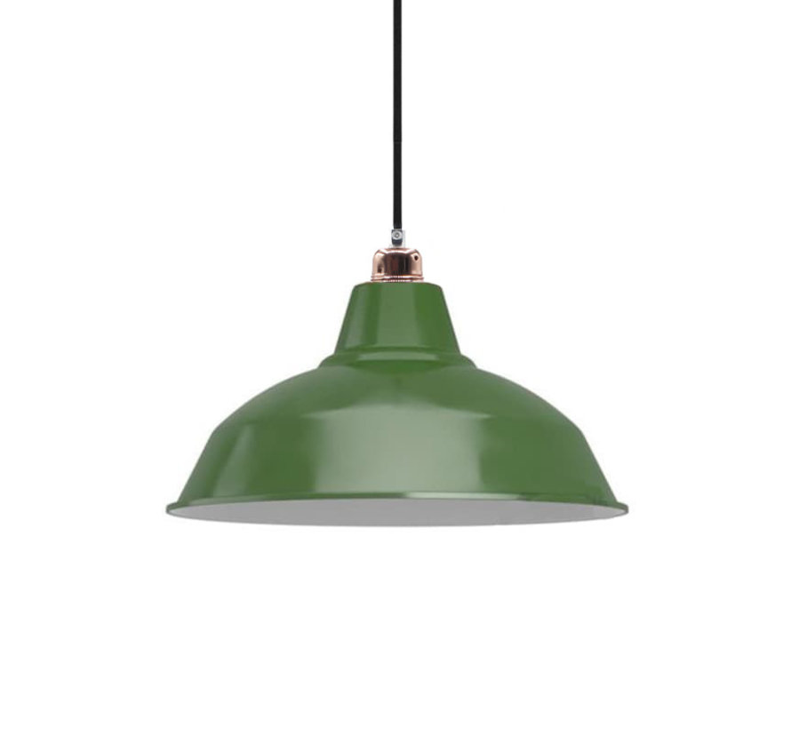 Lampshade industrial 'Eris' metal Green  - E27