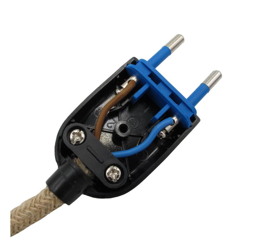 Plug flat black (ungrounded)