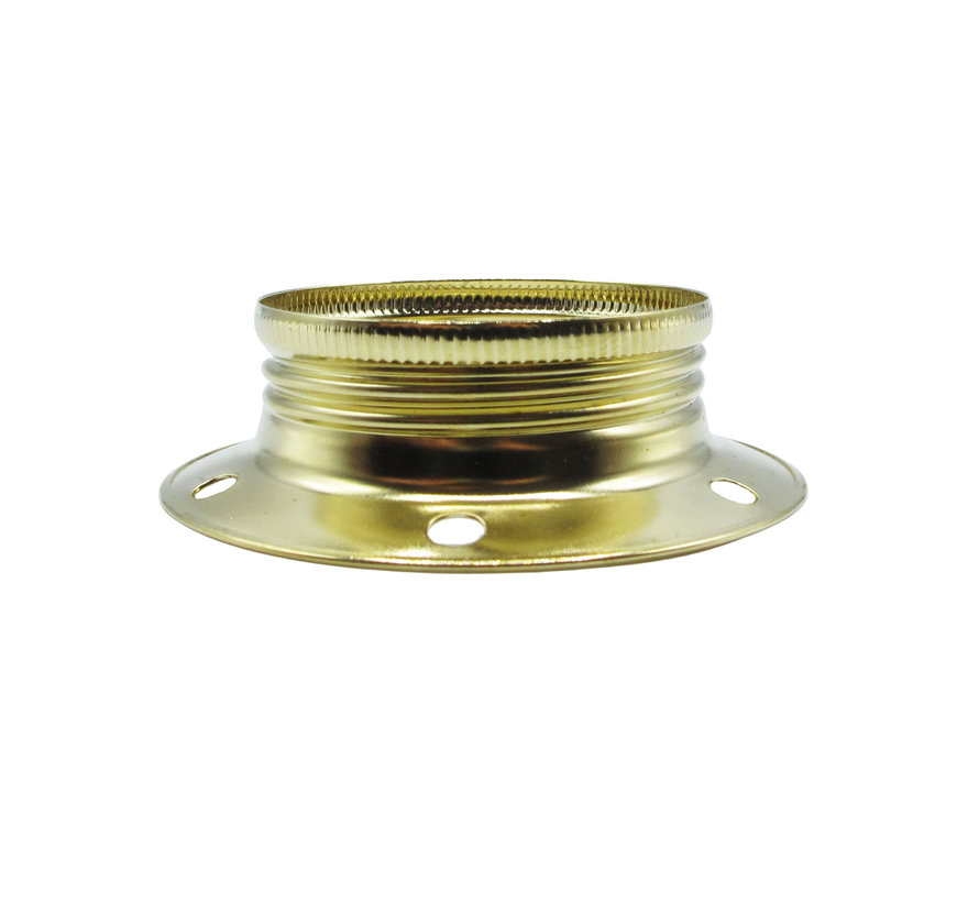 Metal ring for E27 lamp holder with external thread - ⌀60mm | Gold
