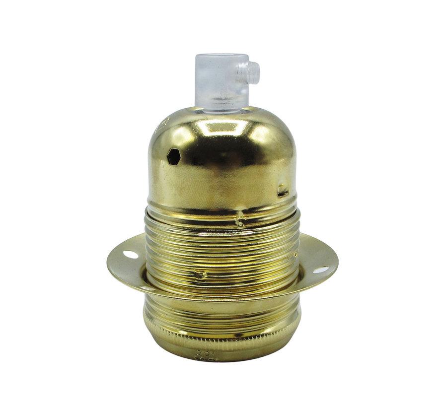 Fitting 'Olan' met buitenschroefdraad - metaal | Goud / Messing - E27