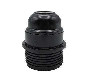 Kynda Light Bakelite Lamp Holder with flange (E27) | Black