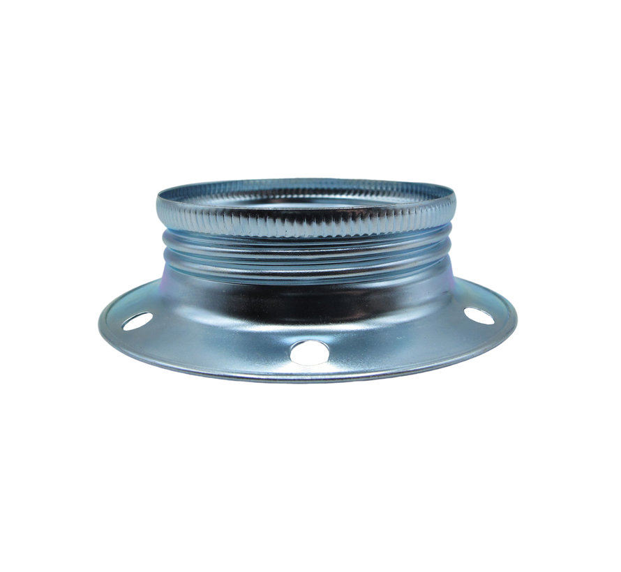 Metal ring for E27 lamp holder with external thread - ⌀60mm   Chrome