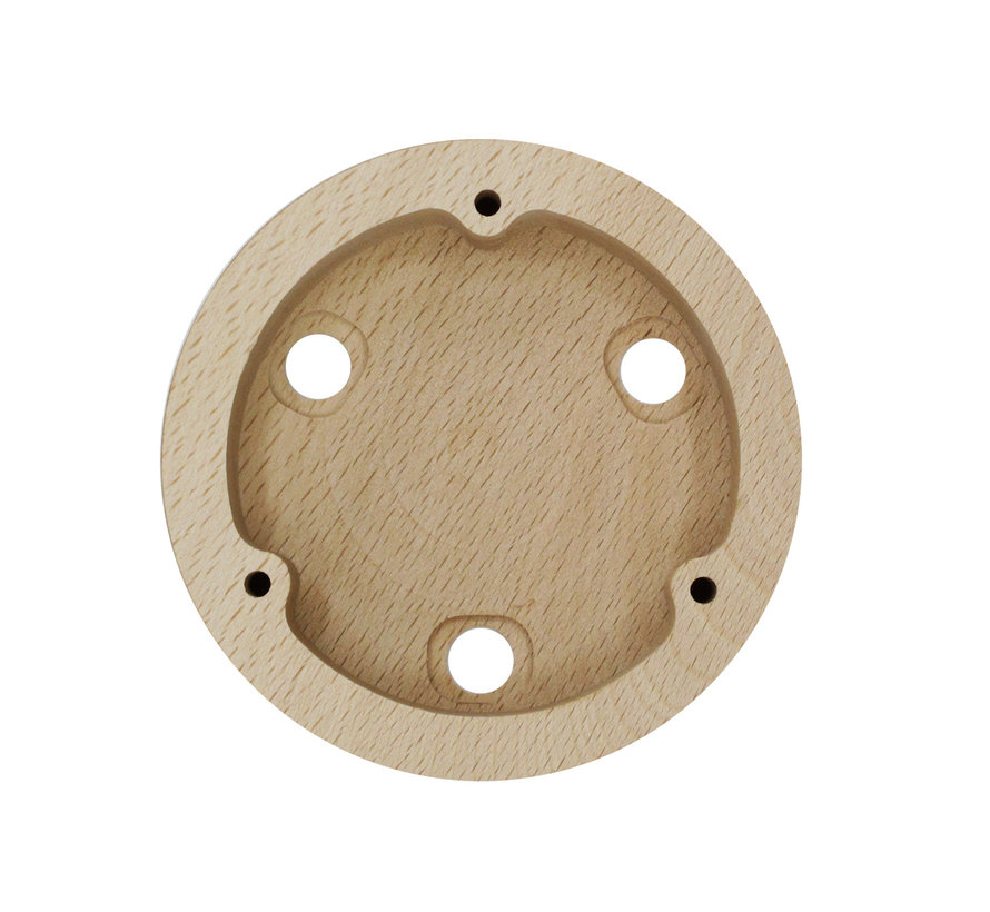 Wooden Ceiling Rose 'Woody' Round - 3 cords