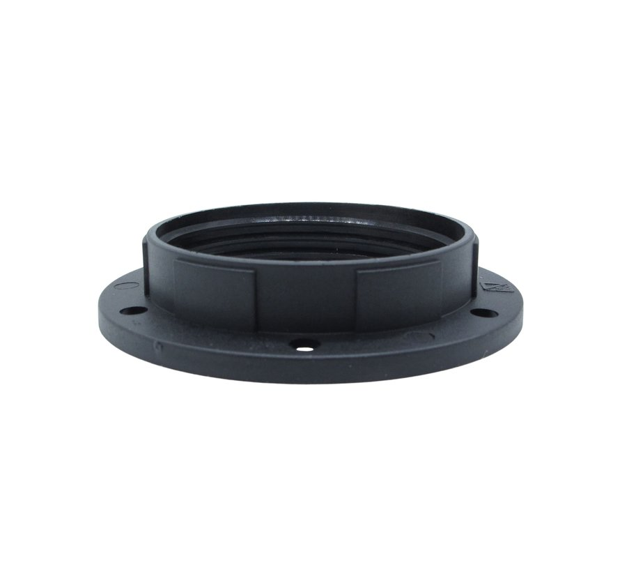 Kunststof ring voor E27 fitting met buitendraad - ⌀57mm | Zwart