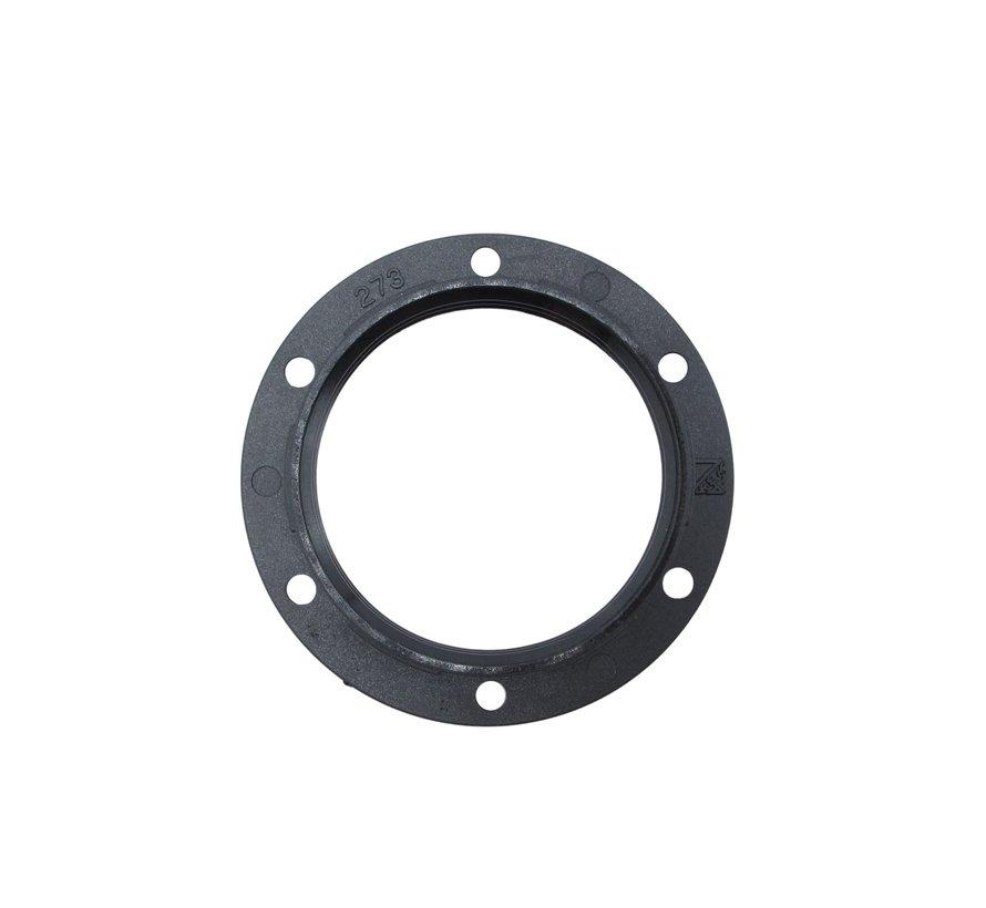 Plastic ring E27 for lamp holder with external thread - ⌀57mm | Black