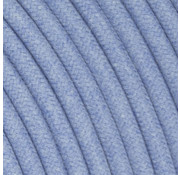 Kynda Light Fabric Cord Light Blue - round, linen