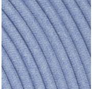 Kynda Light Textilkabel Hellblau - rund, leinen