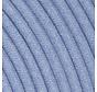 Textilkabel Hellblau - rund, leinen