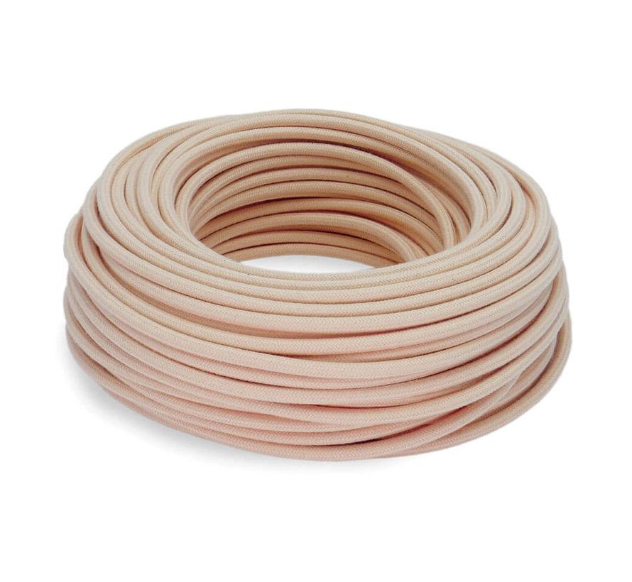 Fabric Cord Salmon Pink - round, linen